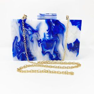 Closet Rehab Bags - Acrylic Party Box in Blue and White